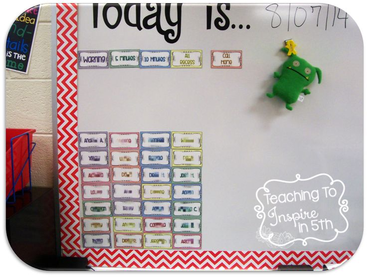 Managing Behavior in the Upper Grades with a Behavior Board. Freebies on the post!