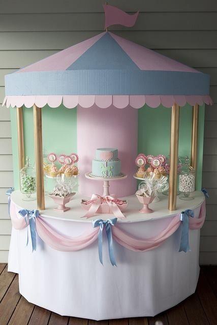 Mary Poppin Tea Party Carousel tutorial
