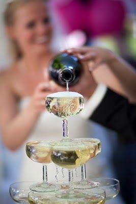 Champagne fontein