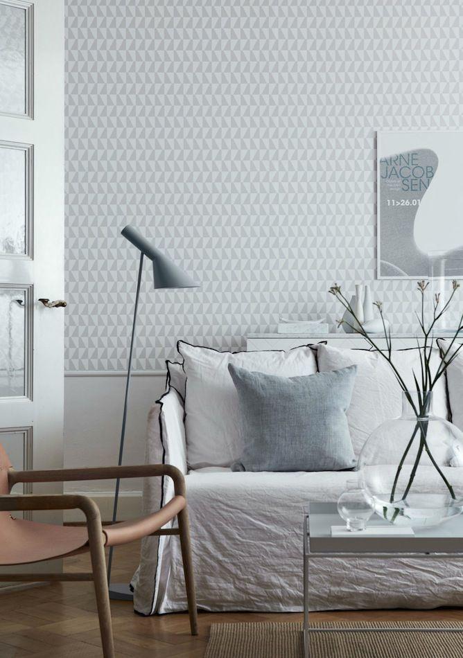 tienda online telas & papel | papel pintado geométrico Jacobsen gris