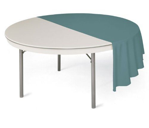 "Virco Lightweight Round Folding Table 72"" Diameter by Virco. $502.99. Virco CoreaGator collection 72'' diameter round folding table is constructed with an ABS plastic top and a lightweight aluminum frame.With its lightweight construction, this table weighs 40 less than traditional folding tables. Table features shock absorbent corner guards, scuff resistant edge banding, and locking legs.Ships fully assembled. 6172R"