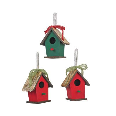 Cedar lodge wooden birdhouse ornaments michaels i for Michaels christmas tree ornaments