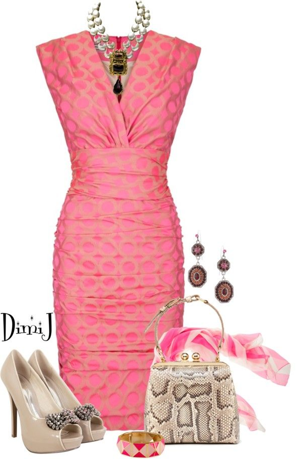 """O vestido SEM SER ROSA E SEM OS ACESSORIOS.""""Dress Collection"""" by dimij on Polyvore"""