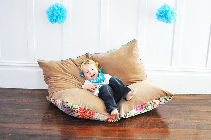 the perfect playful oversized floor pillow for your kid's room