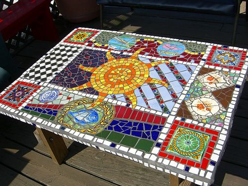 Outdoor Mosaic Table ...