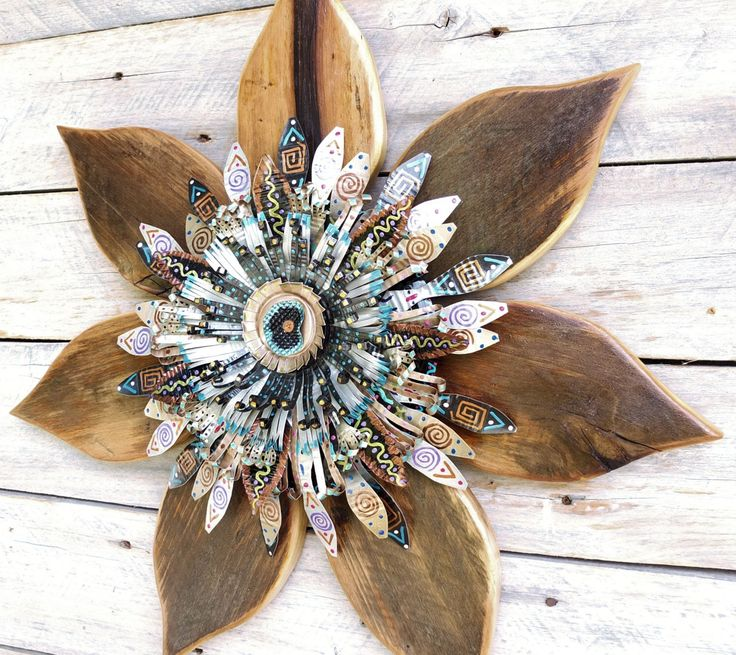 Outdoor Wall Art, Modern Rustic Decor, Reclaimed Wood Wall Art, Rustic Wood Art, Modern Farmhouse Decor, Metal Wall Art, Rustic Wreath by SalvageandBloom on Etsy https://www.etsy.com/listing/174728343/outdoor-wall-art-modern-rustic-decor