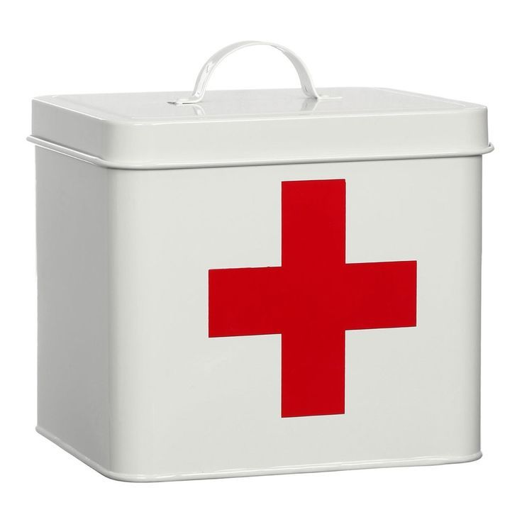 Medizin Erste Hilfe Kasten Weisses Rotes Kreuz Erste Hilfe
