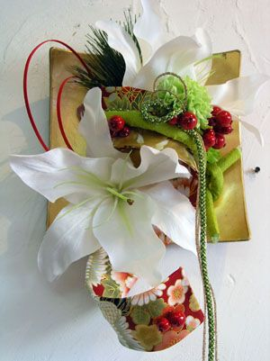 The flower arrangement of the New Year of Japan