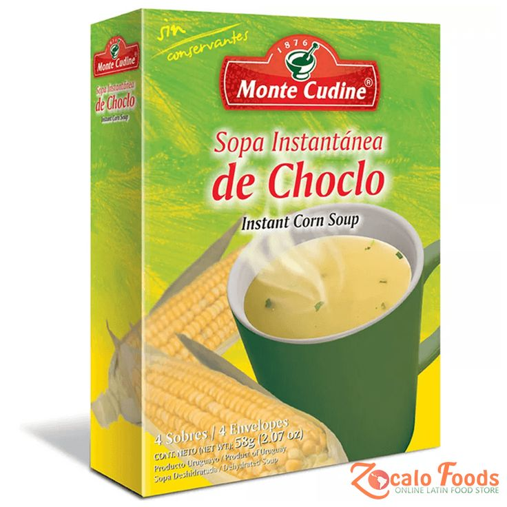 Monte Cudine Sopa Instantanea de Choclo (Instant Corn Soup) 4pk-58g