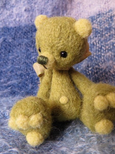 Sprig is a super cute little bear!  Drop by the Little Handfuls facebook page to meet him!