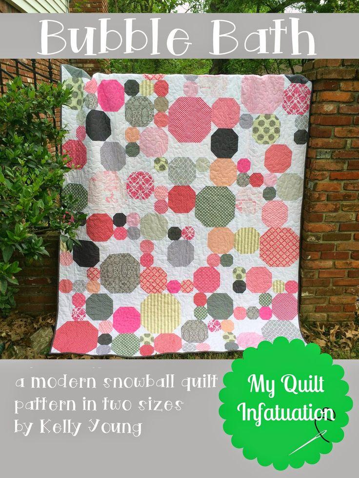 My Quilt Infatuation: Bubble Bath Pattern- modern snowball quilt pattern