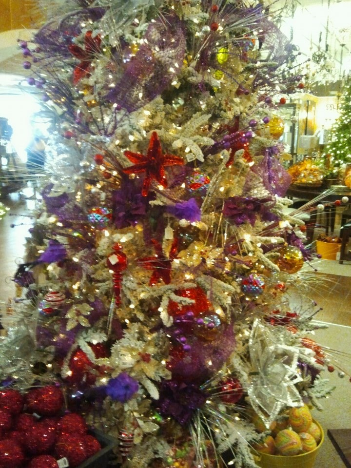 Flocked Christmas tree with purple red and gold at Hall s Lighting in  Victoria  TX55 best Victoria  TX images on Pinterest   Victoria  Texas travel  . Hall Lighting Victoria Texas. Home Design Ideas