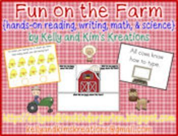 Fun on the Farm is full of interactive literacy, math, and science activities for your young learners!