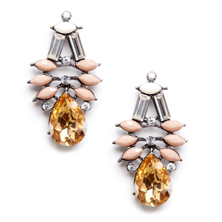 Sole Society Womens Crystal Drop Earrings Gold One Size From Sole Society PoB4R3ho6