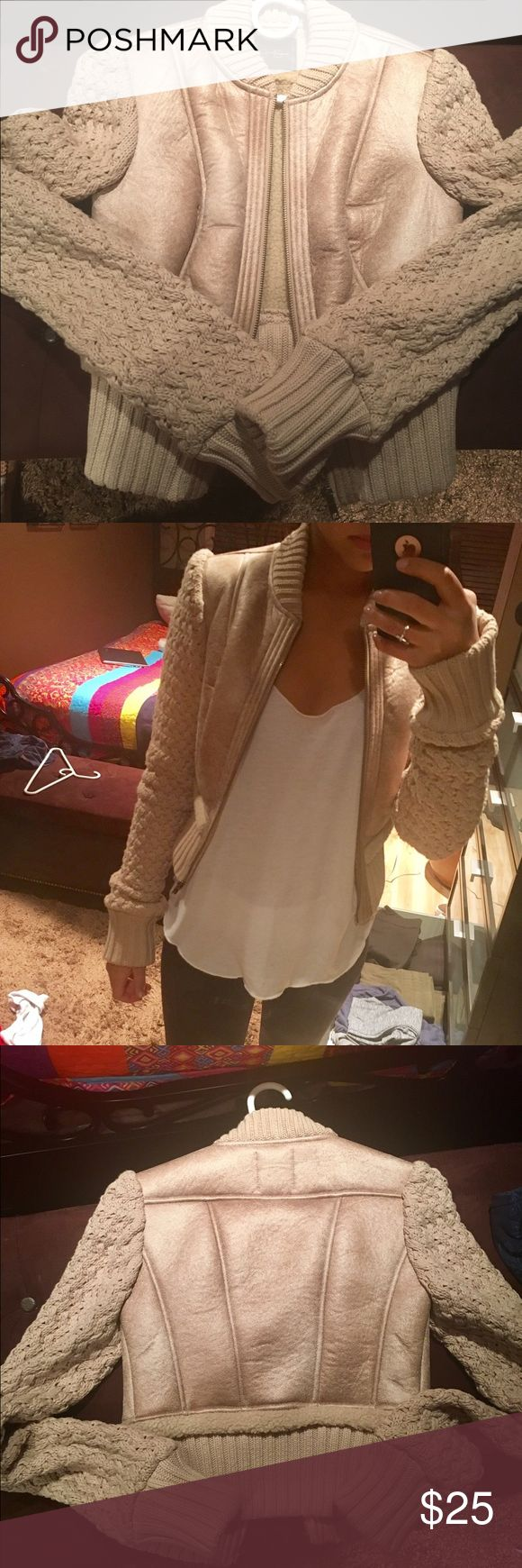 Jessica Simpson Fashion Jacket Jessica Simpson winter fashion jacket. Size Xs never worn but no tags. In perfect condition! The color is a light brown/ beige. Jackets & Coats