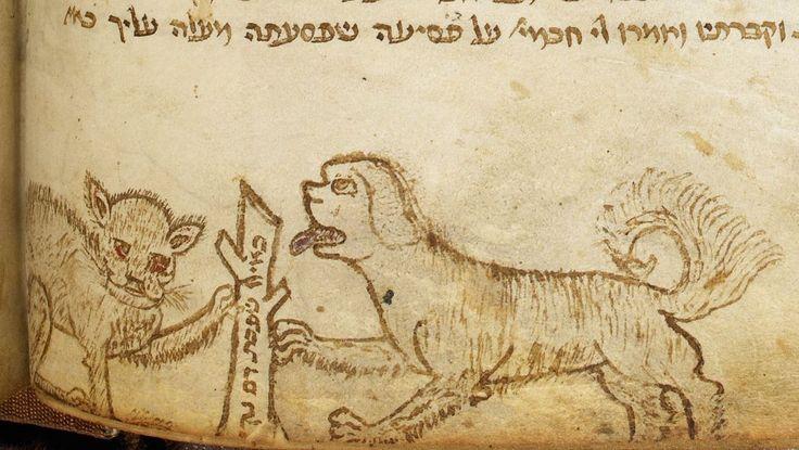 Catchword  http://www.gotmedieval.com/2012/02/medieval-doodles-a-quick-primer-mmm-marginalia-93.html#footnote_3_2537