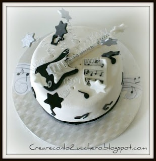 12 best guitarra images on Pinterest Cake fondant Guitar