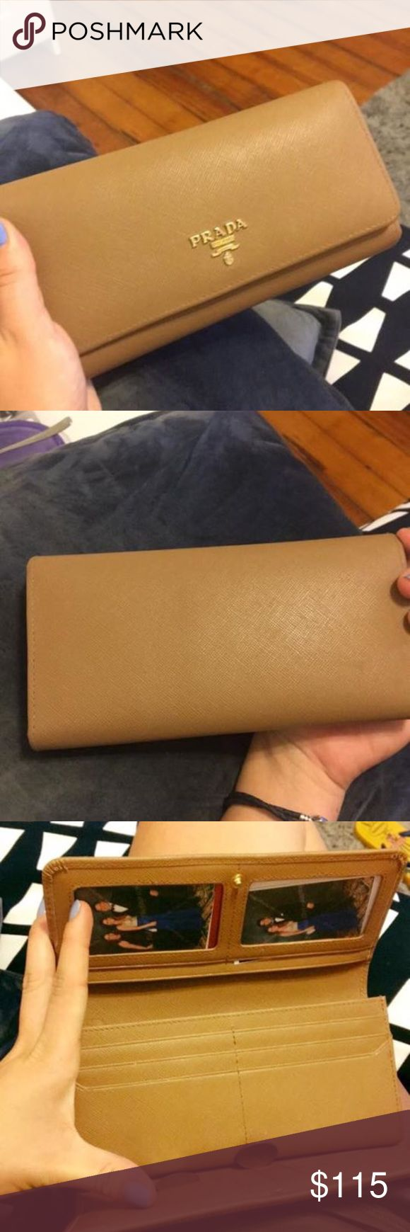 Prada Wallet Used condition. No tags or box. No scratches or stains. Asking for $115 or best offer Prada Bags Wallets