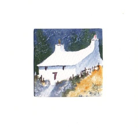 Hand Painted Card - Welsh Cottage a1 by WendyPowellJonesArt on Etsy