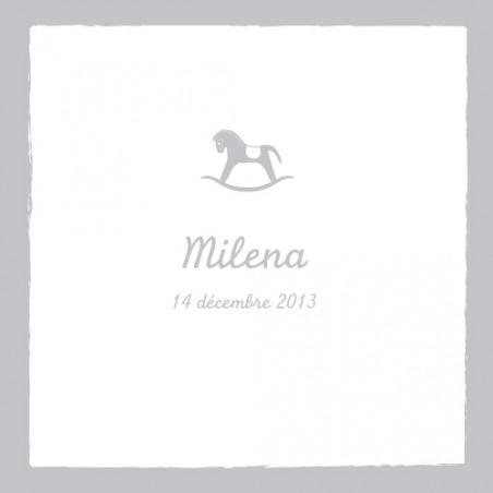 Faire part naissance (baby announcement) : Cheval 4 pages médaillon - by Tomoë pour http://www.fairepartnaissance.fr #naissance #fairepart #birth