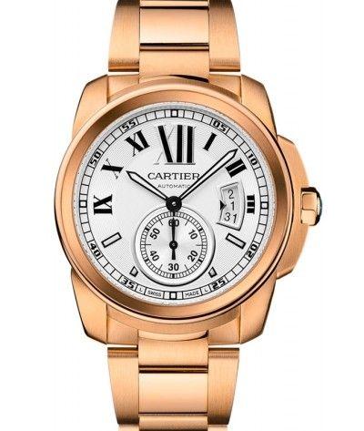 Calibre de Cartier Gold Stainless Steel Mens Watch W7100018