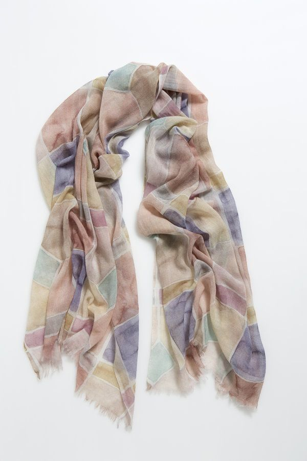 Perfect for any high plains explorer, these extra soft wool silk scarves add warmth without bulk or weight  90% wool 10% silk digital print dry clean...