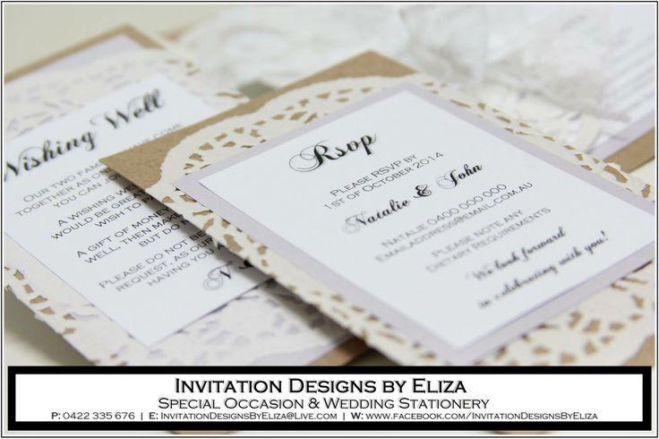RSVP & Wishing Well Card Designs  {Wedding} Vintage & Lilac Theme - www.facebook.com/InvitationDesignsByEliza