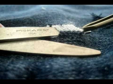 DIY Fashion: How to make holes in your jeans! This video is cool and a super easy how to.