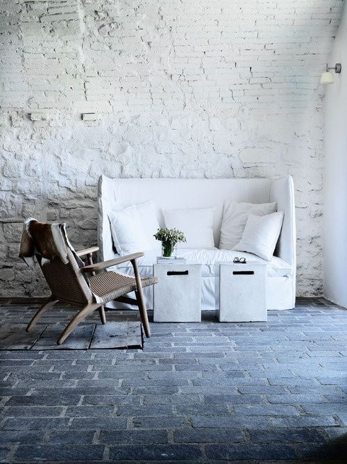Inspiration in White: White Brick - lookslikewhite Blog - lookslikewhite a retrouver a LaMaisonPernoise