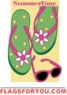 Summer Sandals Applique House Flag