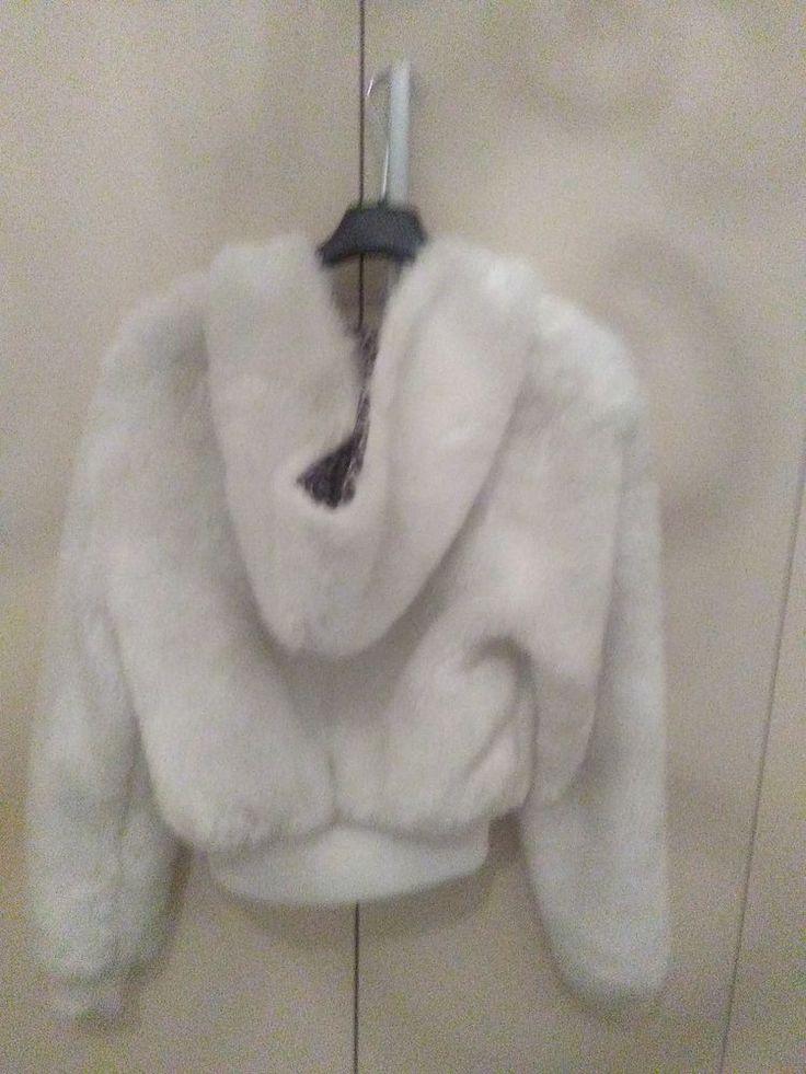 cappotto  bianco di Pelliccia sintetica