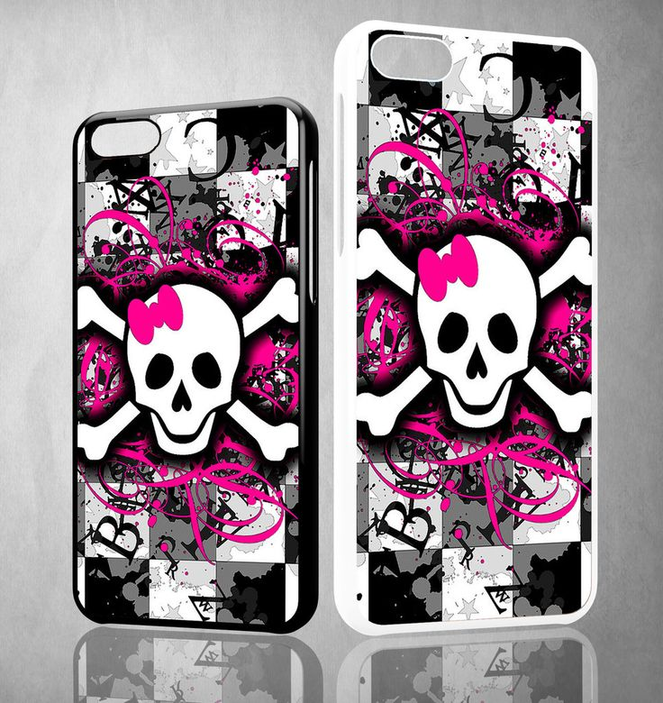 Girly Skull Y1291 iPhone 4S 5S 5C 6 6Plus, iPod 4 5, LG G2 G3 Nexus 4 5, Sony Z2 Case