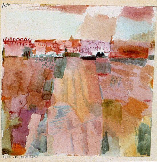 Kairouan (Farewell) , 1914 Paul Klee