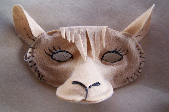 4 sets of Nativity Animal Masks for by BagelIslandcreations