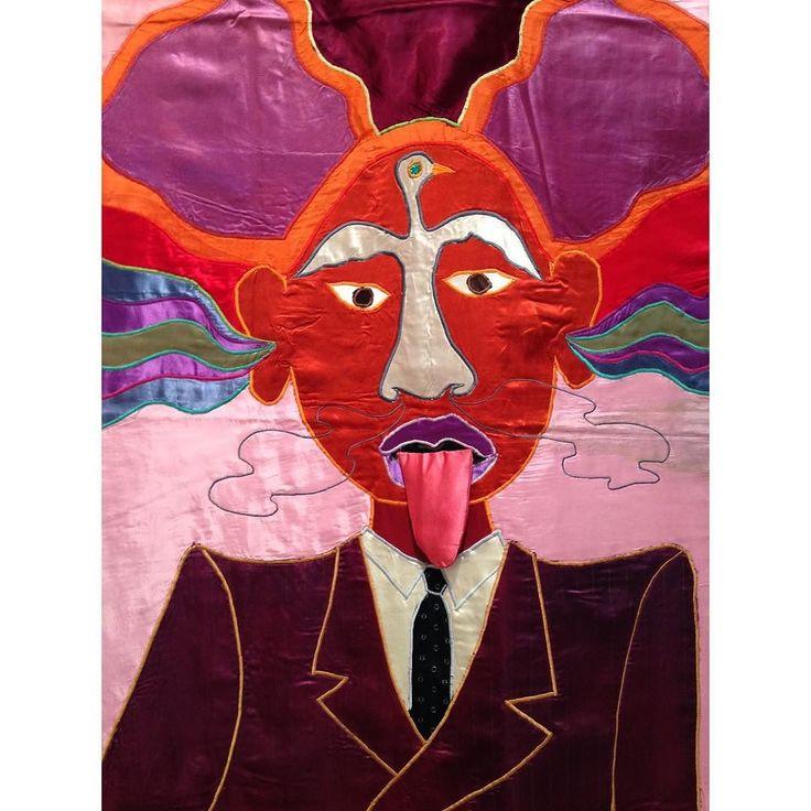 Déjeuner sur l'herbe (Don) pt II  On view: 'Don Cherry' (1981) a textile work by the late Moki Cherry. #mokicherry by cprintjournal