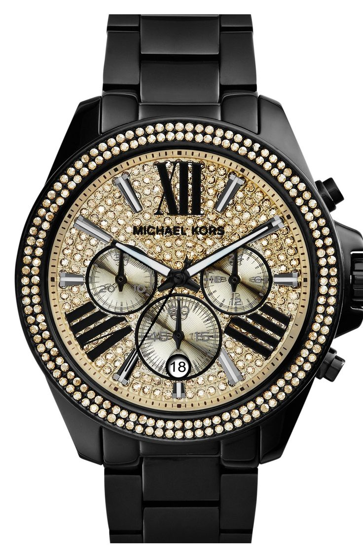 Stunning Michael Kors watch with gold and crystal details.