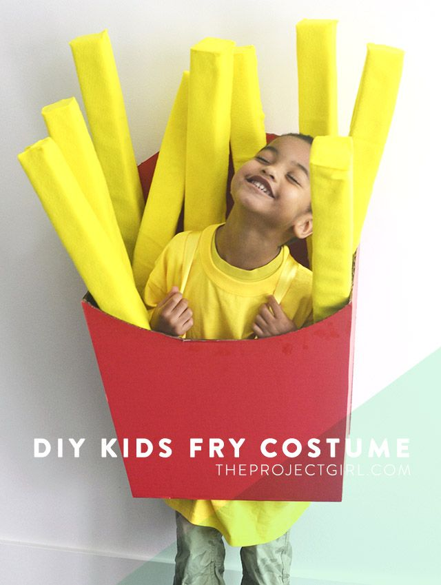 """Do you want a creative costume for your kid this Halloween? These DIY Cardboard Box Costumes for kids will get your creative juices flowing and show you how easy it is to make a costume that is fun, cheap and unique. How to Make A Kids Fry Box Costume from The Project Girl """"I totally […]"""