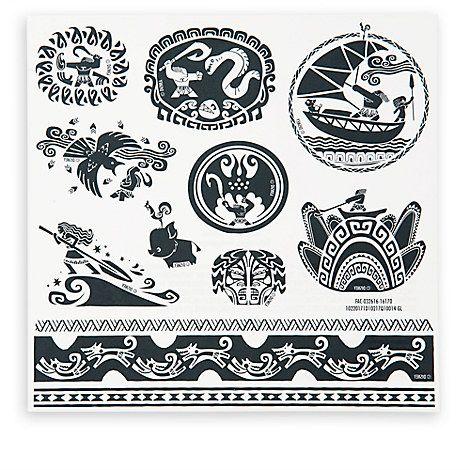 Maui Temporary Tattoos - Disney Moana