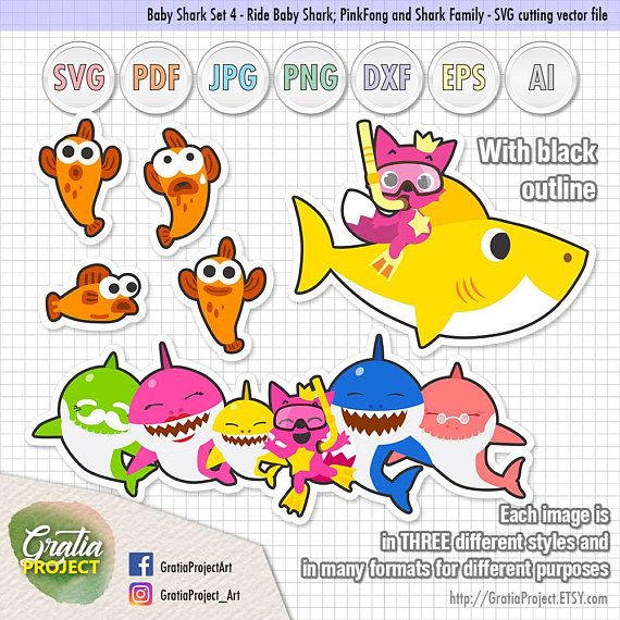 Downloadable Baby Shark Cliparts