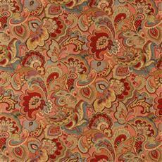 Vintage Look - Robert Allen Fabrics Lacquer Red