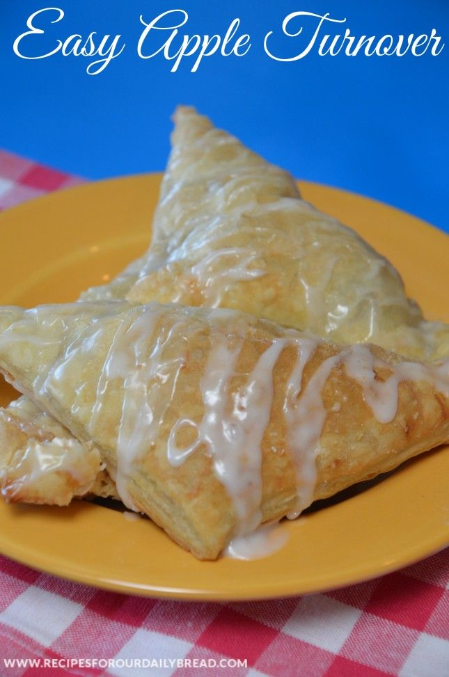 Super Easy Flaky #Apple #Turnover - Impress your family or your guess with these Super Easy Apple Turnovers with just 2 ingredients. This Apple Turnover recipe will probably be the easiest recipe you will ever make. See Recipe:  http://recipesforourdailybread.com/2014/10/04/easy-flaky-apple-turnover/