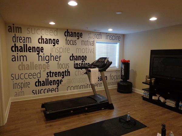 23 best images about fitness decor ideas on pinterest for Wallpaper home center