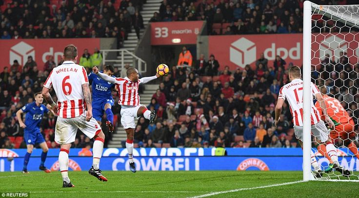 Leonardo Ulloa had pulled a goal back for the 10-men in the second half when his effort was adjudged to have crossed the line