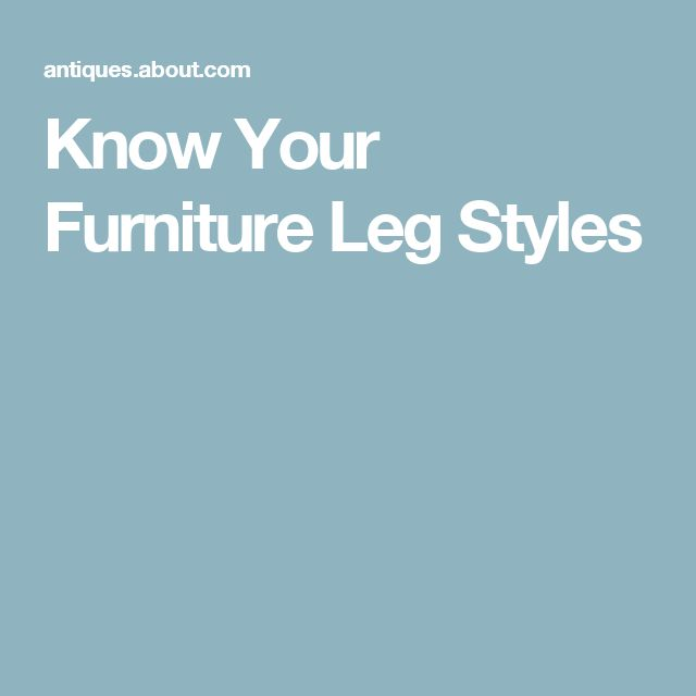 Best Furniture Identification Terms Images On Pinterest