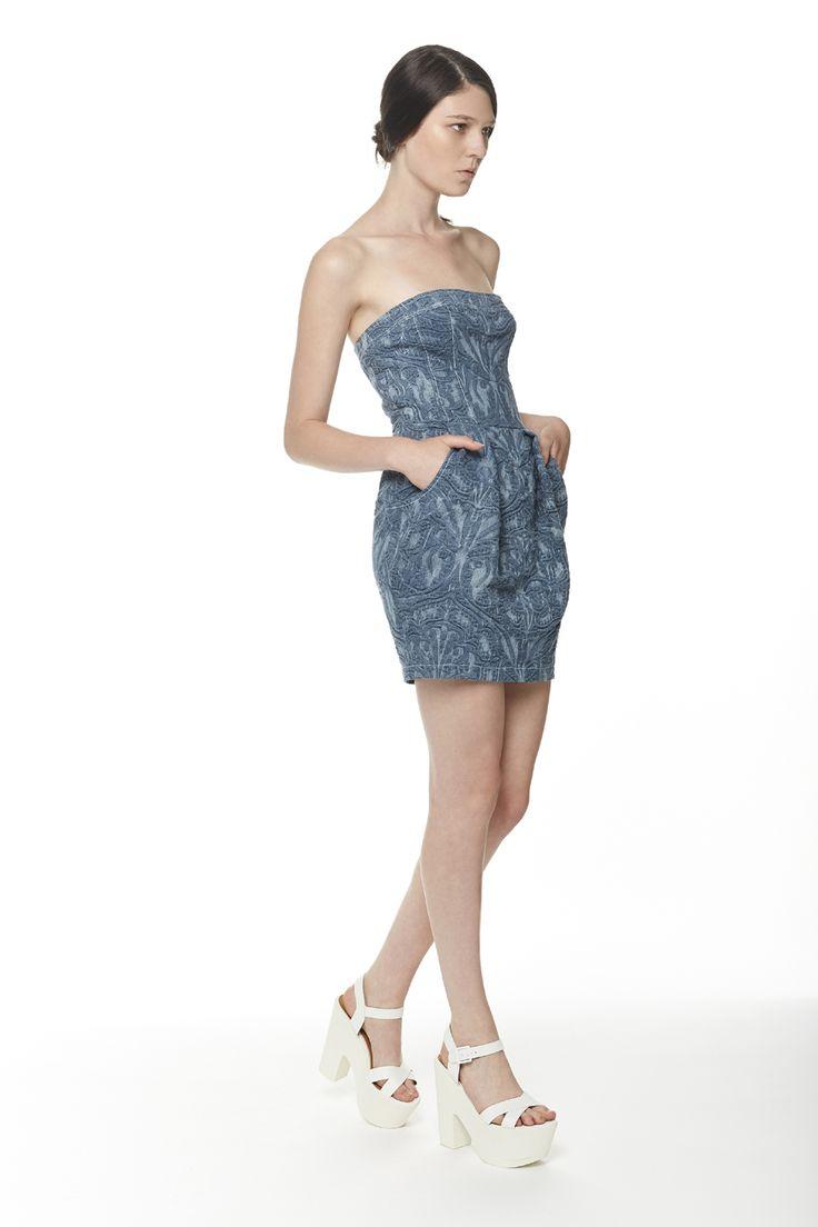#ERAKLE #SS16 denim dress
