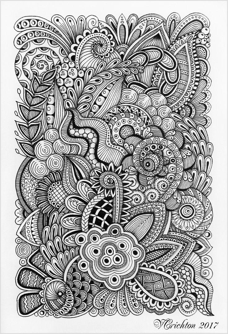 _Zentangle art, graphic, zentangle inspired, zenart, artdrawing, artnet, hand-made, pattern, tangle, abstract, design, graphic, monochrome, blackandwhite, Drawing Illustration, liner_Viktoriya Crichton_Ukraine