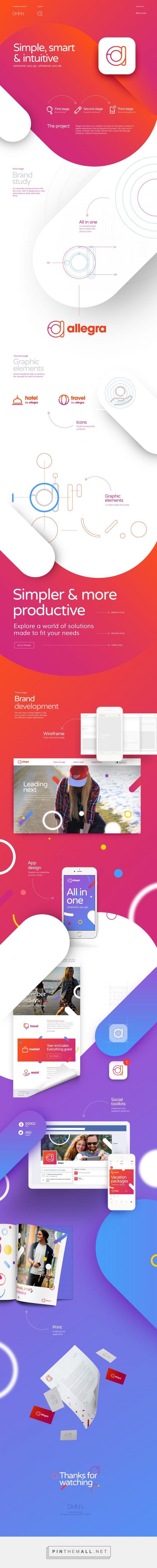 Allegra—Digital Branding on Behance - created via https://pinthemall.net