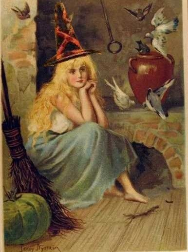 Image result for vintage halloween witch