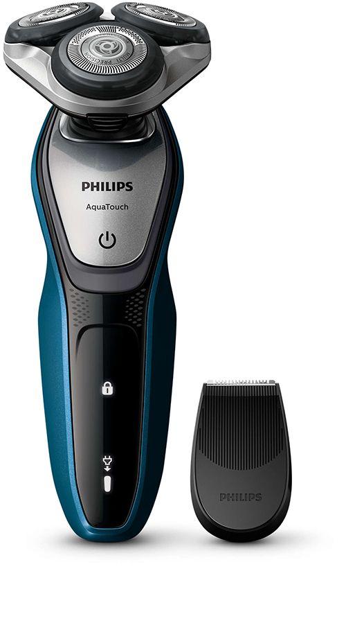Mit dem Philips S5420/06 AquaTouch Rasierer gelingt die morgendliche Rasur schnell und gründlich. Dank AquaTec Wet & Dry kann er nass sowie trocken verwendet werden. Das MultiPrecision-Klingensystem und die flexiblen Scherköpfe machen die Rasur besonders angenehm.