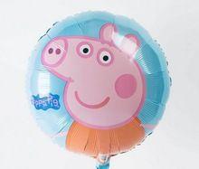 2014 Nova chegam atacado 50pcs/lots Peppa Pig balões de aniversário balão de alumínio decoração do partido de desenhos animados quente da venda (China (continente))